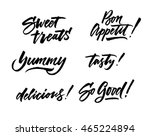 the cooking lettering designs... | Shutterstock .eps vector #465224894