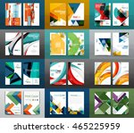 set of a4 size annual report... | Shutterstock .eps vector #465225959