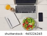healthy business lunch in the... | Shutterstock . vector #465226265