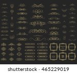 vintage set exclusive borders... | Shutterstock .eps vector #465229019