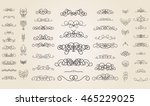 vintage decor elements and... | Shutterstock .eps vector #465229025