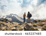 man and woman standing and... | Shutterstock . vector #465237485