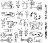 doodle of music collection... | Shutterstock .eps vector #465238829