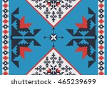 abstract background in ethnic... | Shutterstock .eps vector #465239699