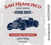 vector vintage sport racing car ... | Shutterstock .eps vector #465239909