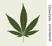 cannabis marijuana hemp leaf... | Shutterstock .eps vector #465244421