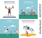 set of illustrations on sports  ... | Shutterstock .eps vector #465245519