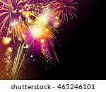 colorful fireworks background ... | Shutterstock . vector #465246101