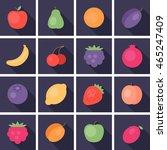 set of vector flat cartoon... | Shutterstock .eps vector #465247409