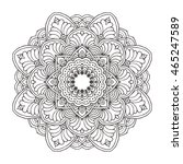 hand drawn floral and tribal...   Shutterstock .eps vector #465247589