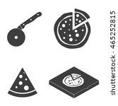 pizza vector icons food... | Shutterstock .eps vector #465252815