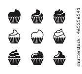 cupcakes icons | Shutterstock .eps vector #465256541