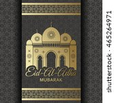 eid al adha background. mosque... | Shutterstock .eps vector #465264971