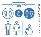 restroom male female and... | Shutterstock .eps vector #465266354