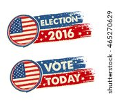 usa election 2016 and vote...   Shutterstock . vector #465270629