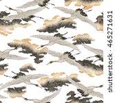 japanese style crane | Shutterstock . vector #465271631