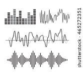 music sound wave icon set  | Shutterstock . vector #465272351