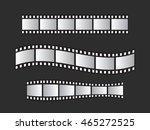 slide film frame set  film roll ... | Shutterstock . vector #465272525