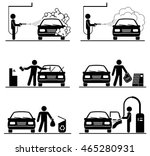 set of car washing pictograms.... | Shutterstock .eps vector #465280931