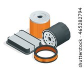 car air filters isometric.  | Shutterstock .eps vector #465282794
