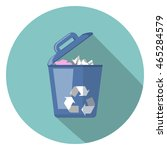 trash flat icon   Shutterstock .eps vector #465284579