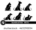 Stock photo silhouettes of pets 465290054