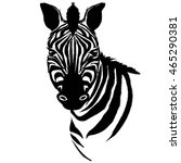 zebra animal   vector... | Shutterstock .eps vector #465290381