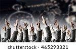hand gestures in arow | Shutterstock . vector #465293321