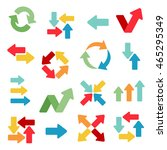 arrows flat icons in different... | Shutterstock .eps vector #465295349