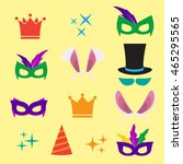 festive birthday party elements ... | Shutterstock . vector #465295565