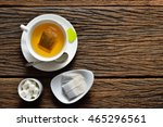 top view of a cup of tea with... | Shutterstock . vector #465296561