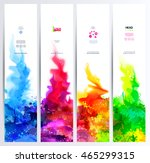 set of four banners  abstract... | Shutterstock .eps vector #465299315