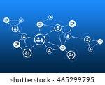 social media communication | Shutterstock . vector #465299795