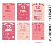 pregnancy 10 15 weeks vector... | Shutterstock .eps vector #465302897
