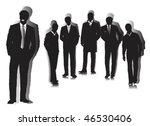 beautiful businessmen. | Shutterstock .eps vector #46530406