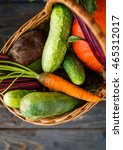 fresh organic food background... | Shutterstock . vector #465312017