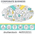 corporate business concept... | Shutterstock .eps vector #465313211