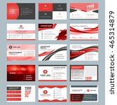 business card templates.... | Shutterstock .eps vector #465314879