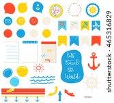 elements for design ... | Shutterstock .eps vector #465316829