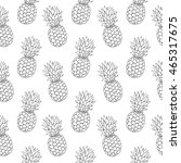 seamless pattern with hand... | Shutterstock .eps vector #465317675