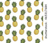 seamless pattern with hand... | Shutterstock .eps vector #465317684