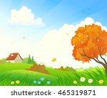 vector cartoon illustration of... | Shutterstock .eps vector #465319871