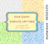 set of seamless patterns with... | Shutterstock .eps vector #465321251