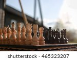 chess on board one  | Shutterstock . vector #465323207