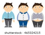from thin to fat kid. children... | Shutterstock .eps vector #465324215
