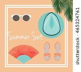 summer fashion set vector. | Shutterstock .eps vector #465324761