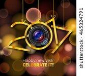 happy new year  2017  steel...   Shutterstock .eps vector #465324791
