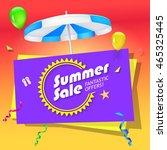 summer sale  special offer... | Shutterstock .eps vector #465325445