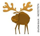 Cute Cartoon Moose Or Eurasian...
