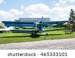 Blue Plane With Propeller In...